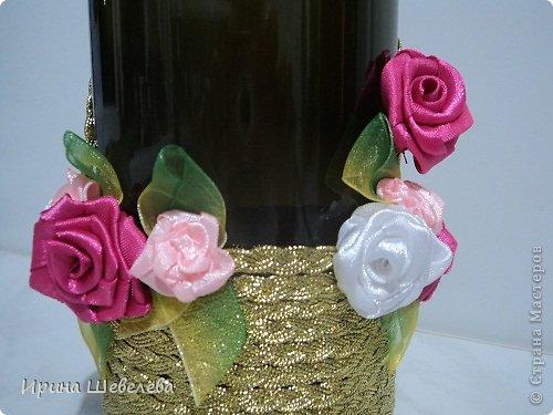 Очень понравилась идея http://stranamasterov.ru/node/298019  Попробовала сделать, а получилось, что эту бутылочку разыграли на свадьбе (номер свидетельства о браке). фото 7