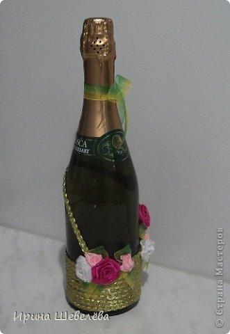 Очень понравилась идея http://stranamasterov.ru/node/298019  Попробовала сделать, а получилось, что эту бутылочку разыграли на свадьбе (номер свидетельства о браке). фото 8