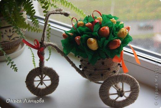 Велосипед с цветами своими руками мастер класс 155