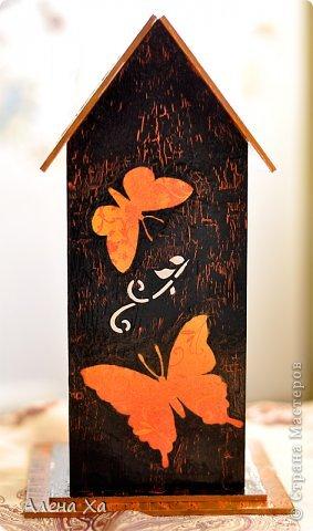 Осень, грусть и печаль в душе, домик получился вот таким. Мой первый чайный домик. Вот такое хокку, думаю, подходит для моего домика: И осенью хочется жить  Этой бабочке: пьет торопливо  С хризантемы росу.  фото 3