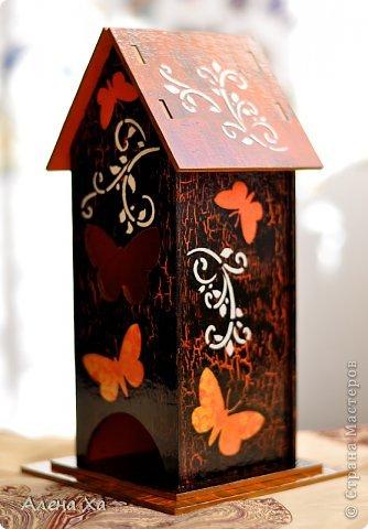 Осень, грусть и печаль в душе, домик получился вот таким. Мой первый чайный домик. Вот такое хокку, думаю, подходит для моего домика: И осенью хочется жить  Этой бабочке: пьет торопливо  С хризантемы росу.  фото 2