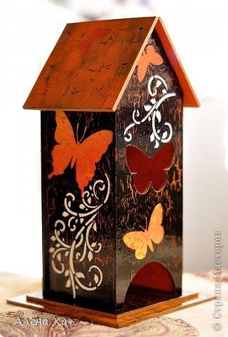 Осень, грусть и печаль в душе, домик получился вот таким. Мой первый чайный домик. Вот такое хокку, думаю, подходит для моего домика: И осенью хочется жить  Этой бабочке: пьет торопливо  С хризантемы росу.  фото 1