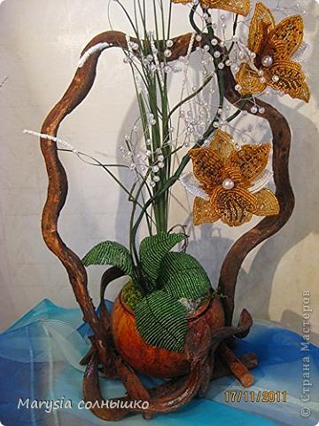 Интерьер Поделка изделие Бисероплетение Цветы из бисера Бисер фото 10.