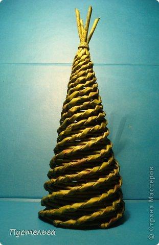 Мастер-класс Поделка изделие Новый год Плетение Новогоднее зелёное Трубочки бумажные фото 1