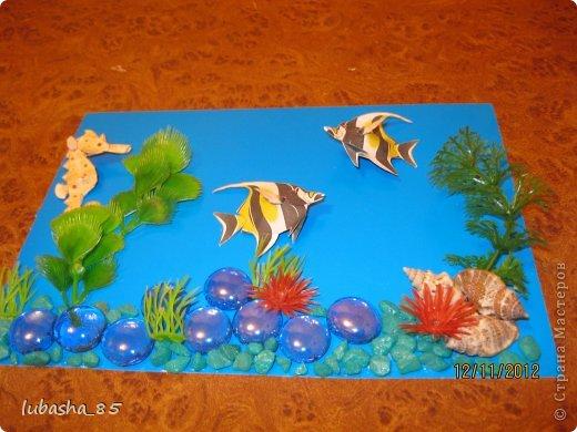 Поделка рыбка в аквариуме