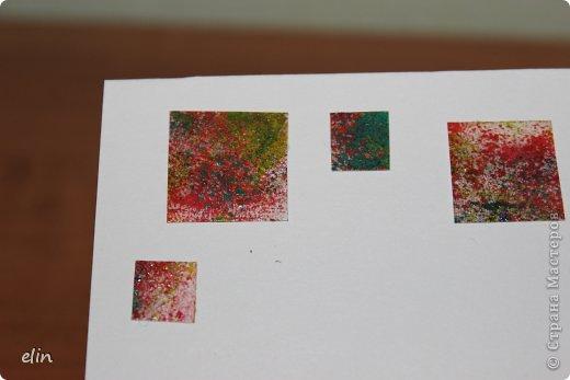 Продолжаю бежать марафон, на Хомячке второе экспресс-задание, в работе надо использовать что-то квадратное , что-то белое, а также добавьте всяческие брызги, кляксы, капли краской или чем-либо еще. Я опять с открыткой, на этот раз на день рожденье! Однажды увидела похожего зайца в интернете и влюбилась (идея не моя). фото 8