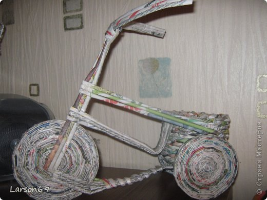 Вот такой велосипед сплели с сыном на выставку   http://www.babyblog.ru/community/post/rukodelie/1698670 фото 2