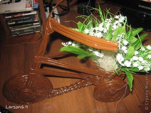 Вот такой велосипед сплели с сыном на выставку   http://www.babyblog.ru/community/post/rukodelie/1698670 фото 6
