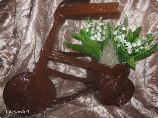 Вот такой велосипед сплели с сыном на выставку   http://www.babyblog.ru/community/post/rukodelie/1698670 фото 8
