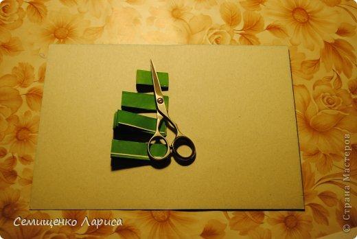 Добрый вечер, мастера и мастерицы! Предлагаю вам мастер класс вот такой открытки с ёлочкой. фото 13