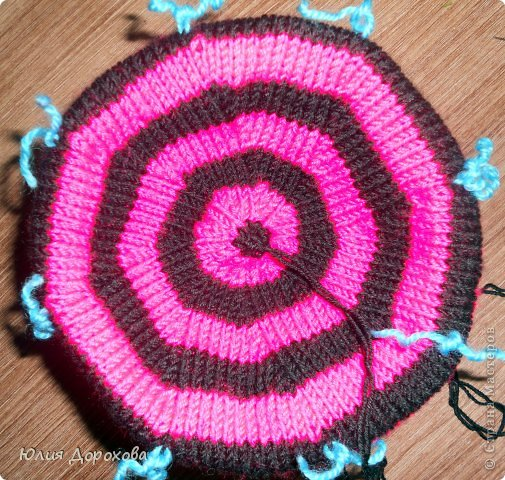 Милая розовая шапка с бантом (шапка-уточка) Шапки Pinterest