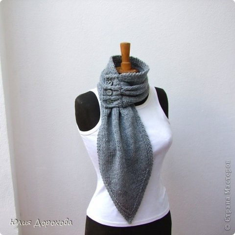 """Дочке на зиму под яркую розовую куртку нужно было связать шапку и шарф. Она нашла в интернете модели, которые ей хотелось. Шапка двойная, теплая. Только фото, без описаний. Пришлось думать, как это можно связать самой)) Делюсь опытом, может кому и пригодится. Нам понадобится: - пряжа черного цвета, у меня """"Камилла"""", производство NAZAR, (55% шерсть, 40% акрил, 5% кашемир, 100гр/320м) два мотка; - пряжа розового цвета, у меня BIANCA babylux, (45% детская шерсть, 55% акрил, 50гр/150м) два мотка; - круговые спицы № 3,5; - набор чулочных спиц № 3,5; - простые спицы № 3,5; - одна большая пуговица и три маленьких; - крючок № 3. Шапка связна на подростка. Окружность головы 53 см. фото 28"""