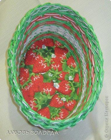 Поделка изделие Плетение Клубничная  Трубочки бумажные фото 1