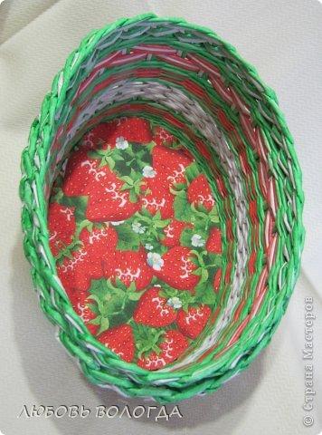 Поделка изделие Плетение Клубничная  Трубочки бумажные фото 6