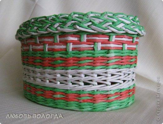 Поделка изделие Плетение Клубничная  Трубочки бумажные фото 2