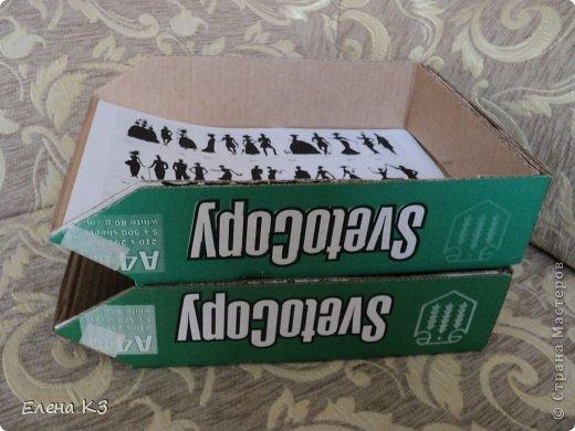Как сделать из картона лоток для бумаг