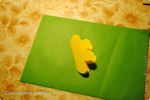 Ко Дню матери мы с учениками младших классов делали объёмную открытку с распускающимся цветком. Предлагаю мастер класс. фото 7