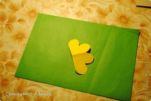 Ко Дню матери мы с учениками младших классов делали объёмную открытку с распускающимся цветком. Предлагаю мастер класс. фото 8