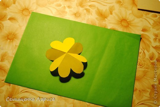 Ко Дню матери мы с учениками младших классов делали объёмную открытку с распускающимся цветком. Предлагаю мастер класс. фото 10
