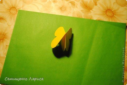 Ко Дню матери мы с учениками младших классов делали объёмную открытку с распускающимся цветком. Предлагаю мастер класс. фото 11