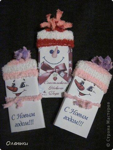 Новогодняя упаковка для шоколадки своими руками