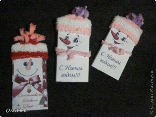 Свит-дизайн Упаковка Новый год Рождество Шоколадные снеговики + ШАБЛОНЫ Бумага Носки фото 2