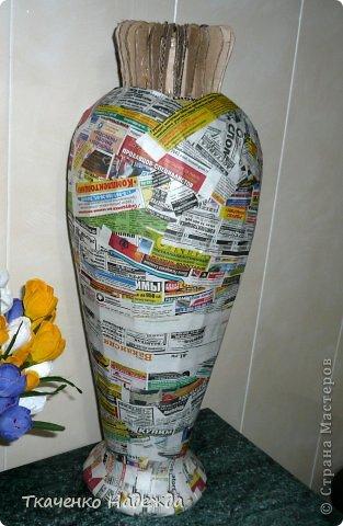 Напольные вазы для цветов своими руками фото