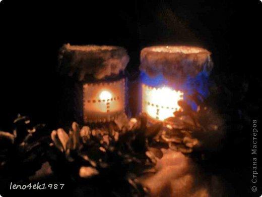 Декор предметов Мастер-класс Поделка изделие Новый год Роспись Мастер-класс по подсвечникам или новогодние подсвечники из банок Банки стеклянные фото 2