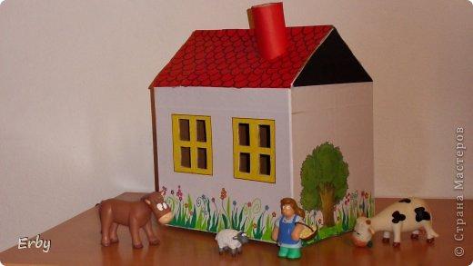 Крыша из картона для домика своими руками