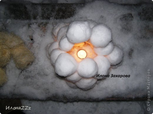 снежный подсвечник фото 6