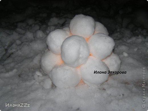 снежный подсвечник фото 8
