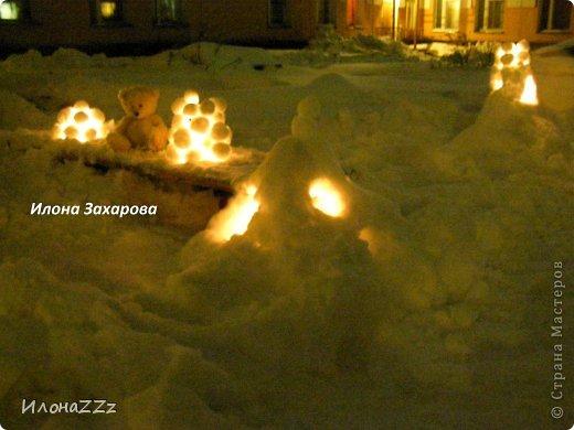 снежный подсвечник фото 3