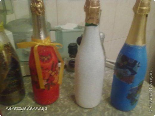 Салфетки для декупажа бутылок своими руками