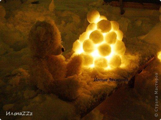 снежный подсвечник фото 2