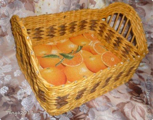 Добрый день всем мастерам и мастерицам! Сплелся у меня такой апельсиновый подносик. Водная морилка: цвет мокко и лиственница+ мокко (получается цвет соломки). фото 2