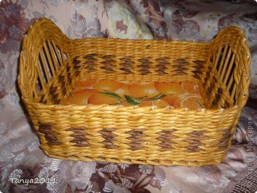 Добрый день всем мастерам и мастерицам! Сплелся у меня такой апельсиновый подносик. Водная морилка: цвет мокко и лиственница+ мокко (получается цвет соломки). фото 3
