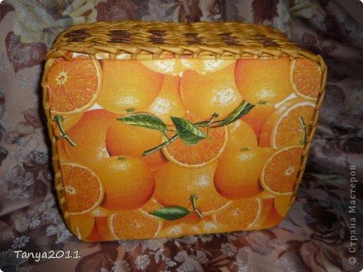 Добрый день всем мастерам и мастерицам! Сплелся у меня такой апельсиновый подносик. Водная морилка: цвет мокко и лиственница+ мокко (получается цвет соломки). фото 5