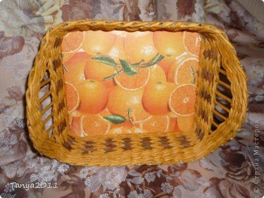 Добрый день всем мастерам и мастерицам! Сплелся у меня такой апельсиновый подносик. Водная морилка: цвет мокко и лиственница+ мокко (получается цвет соломки). фото 4