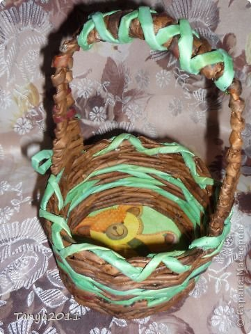 Добрый день всем мастерам и мастерицам! Сплелся у меня такой апельсиновый подносик. Водная морилка: цвет мокко и лиственница+ мокко (получается цвет соломки). фото 6