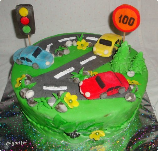 Детский торт машинка фото