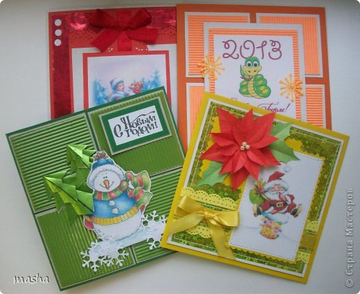 Разные варианты открыточек, которые будут предложены девочкам сделать в кружке. фото 1
