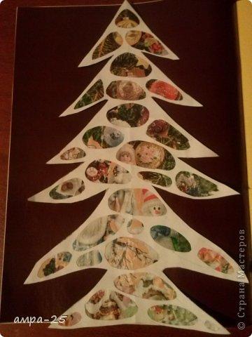 Вот такая елка получилась у нас из журнальных обрывков.   фото 7