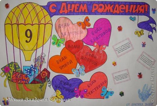 Плакат с днем рождения своими руками фото