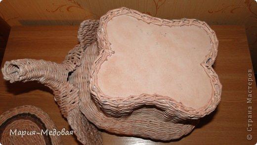 Поделка изделие Плетение Плетёный слоник мини мк Бумага газетная Трубочки бумажные фото 5