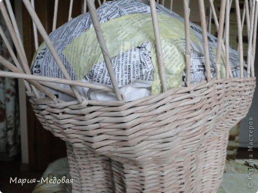 Поделка изделие Плетение Плетёный слоник мини мк Бумага газетная Трубочки бумажные фото 16