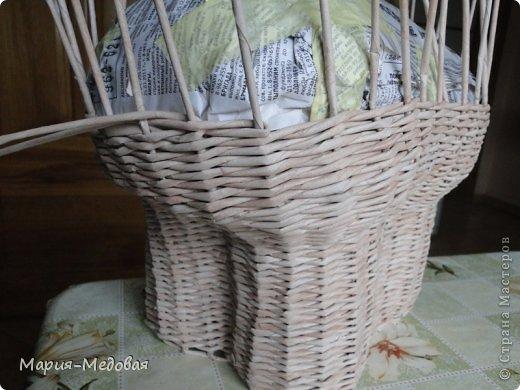 Поделка изделие Плетение Плетёный слоник мини мк Бумага газетная Трубочки бумажные фото 17