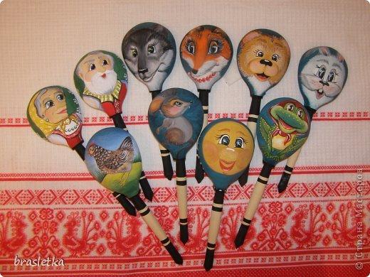 Ложковый кукольный театр. Роспись по дереву. Ложки. Автор: Гусятинская Кристина фото 1