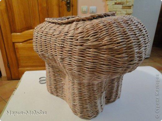 Поделка изделие Плетение Плетёный слоник мини мк Бумага газетная Трубочки бумажные фото 29