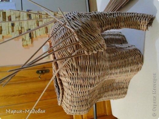 Поделка изделие Плетение Плетёный слоник мини мк Бумага газетная Трубочки бумажные фото 39