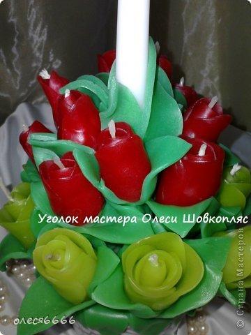 Поделка изделие 8 марта Новый год Рождество Свадьба Лепка Лепные свечи Бисер Воск парафин Глина фото 3